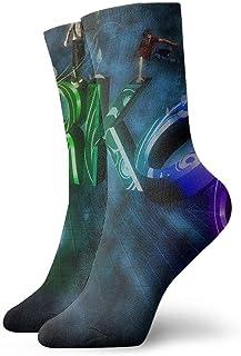 Drempad, Luxury Calcetines de Deporte Color Parkour Sport Women & Men Socks Soccer Sock Sport Tube Stockings Length 11.8Inch