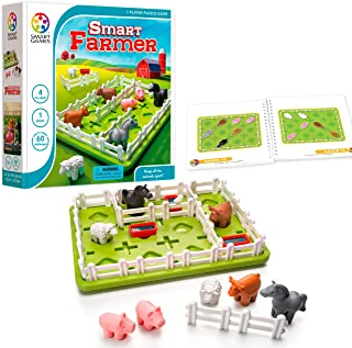 SmartGames Smart Farmer Board Game, a Fun, STEM Focused Cognitive Skill-Building Brain Game and Puzzle Game for Ages 4 and Up