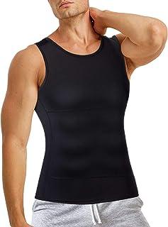 Bingrong Men Compression Vests Shapewear Slimming Body Shaper Undershirt Tank Top Shirt