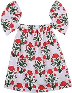 Lemcos 子供 ワンピース 花柄 葉っぱ ノースリーブ コットン 子どもドレス 女 可愛い スカート 子供服 女の子用 春衣装 女児