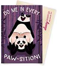 Sleazy Greetings Every Paw-sition Panda Funny Birthday Card | Dirty Valentine's Day | Naughty Anniversary Card For Boyfriend Husband From Girlfriend Wife With Matching Envelope