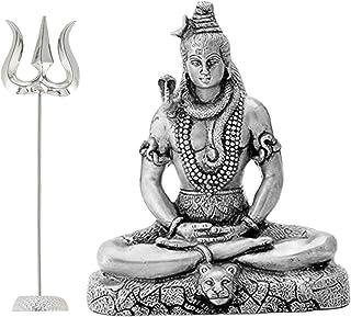 DARSHRAJ JEWELLERS 925 Pure Silver(Chandi) Large Trident of Hindu Lord Shiva Indian God Religious Trishakti Trishul(1.650GM)