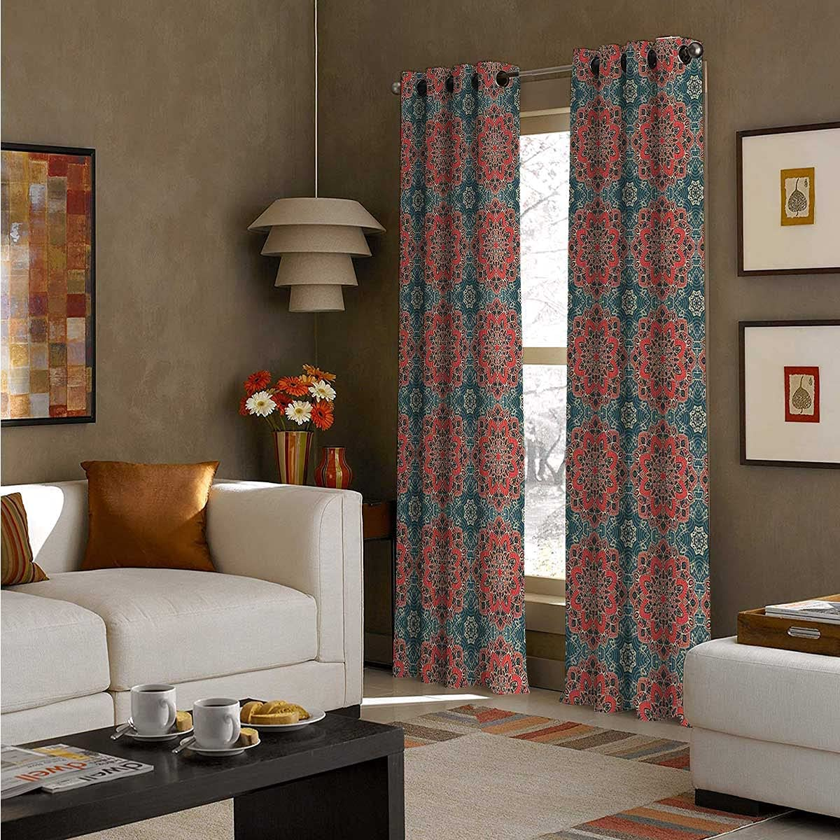 Curtain Blackout 108 Inch Long Flowers Panel Se Bombing new work Super sale period limited Culture