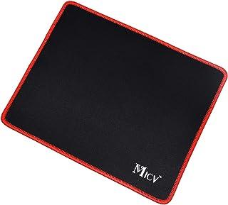Micv マウスパッド クロス表面 レーザー&光学式マウス対応 縦210mm 横260mm 厚さ1.5mm 滑り止め 防水 耐久性が良い 会社用、家庭用などに最適 (レッド)