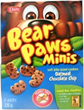 Dare Bear Paws Minis, Oatmeal Chocolate Chip Cookies - Peanut Free {Imported from Canada}