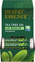 product image for Desert Essence Lip Rescue Therapeutic with Tea Tree Oil - 0.15 Oz - Pack of 4 - Antiseptic Balm - for Cracked Lips, Cold Sores - for Softer, Smoother Lips - Unscented - Vitamin E - Aloe Vera