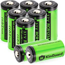 $32 » [CAN BE RECHARGED] CR123A Lithium Batteries KinGuard 8 Pack 3.7V 750mAh CR123A Li-ion Battery for Arlo Camera VMC3030 VMK3200 VMS3330 3430 3530 Security System Flashlight