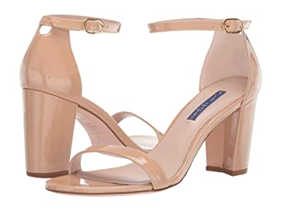 Stuart Weitzman Nearlynude Ankle Strap City Sandal (Adobe Patent) Women