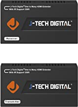 J-Tech Digital HDMI Extender Over Single Cat5e/6 Ethernet Cable with IR Up to 330 Feet 100m Supports 1080P HDCP One to Many Connection (Receiver+Transmitter)