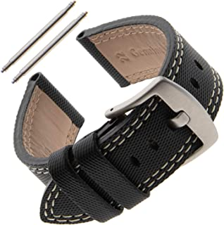 Gilden Gents 20-22mm Kevlar-Style Polyurethane and Leather Sport Watch Strap KS01