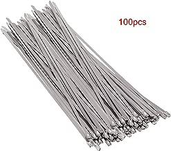100 pcs Bridas para Cables Ataduras Acero Inoxidable 304 Alta Resistencia Sujetador de Cable de Autobloqueo Lazos de Alambre 4.6 x 300 mm