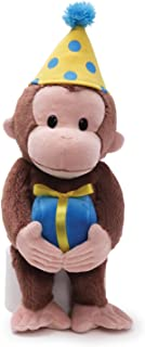 GUND Curious George Birthday Monkey Stuffed Animal Plush, 14
