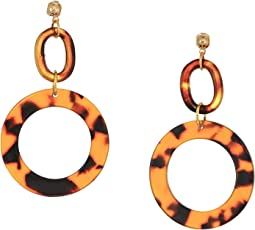 Tortoise Shell Hoops Earrings