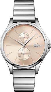 Lacoste Women's Gold Dial Stainless Steel Band Watch - 2001026