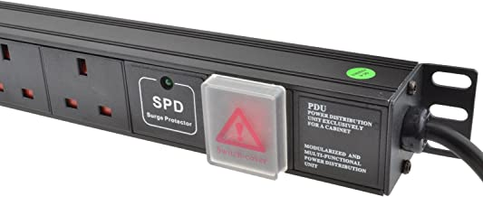 Kenable Power Distribution Unit PDU 12 Way Surge Protected VERTICAL Rack Mount