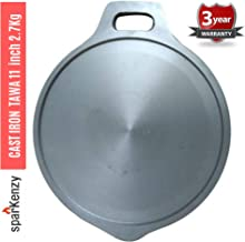Sparkenzy Cast Iron Tawa- Thick 4.5mm | 11 Inch | 2.5 Kg | Non Stick | Healthy Cooking | Polished