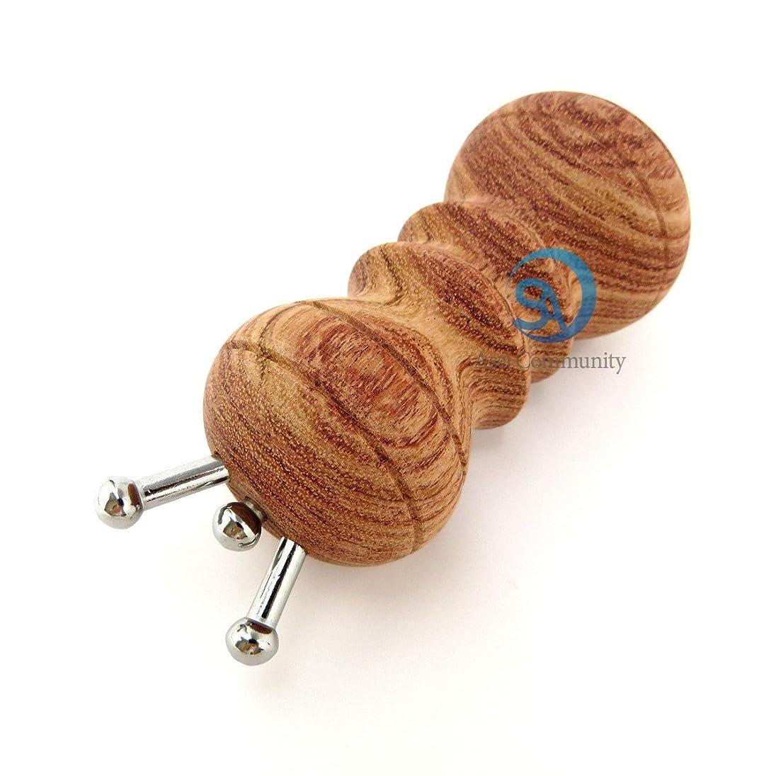 ホテル通知侵入かっさ 無痕かっさ 天然花梨木 (カリボク) 磁石付き マッサージ器