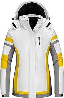 Wantdo Women's Mountain Waterproof Ski Jacket Winter Snow Coat Windproof Fleece Snowboarding Jackets
