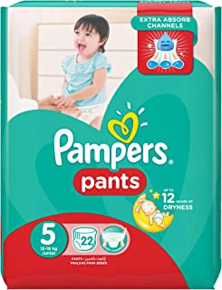 Pampers Pants Diapers, Size 5, Carry Pack - 12-18 kg, 22 Count