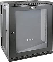 Tripp Lite 15U Wall Mount Rack Enclosure Server Cabinet with Acrylic Glass Window, Hinged, 20.5