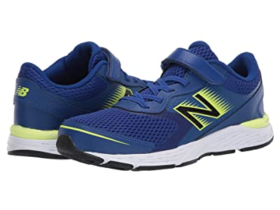 New Balance Kids 680v6 Bungee (Little Kid/Big Kid) (Marine Blue/Lemon Slush) Boys Shoes