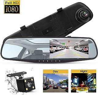 "Topsale-ycld 4.3""1080P Dual Lens Car Auto DVR Mirror"