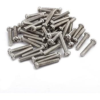 uxcell M5 x 10mm 0.8mm Pitch Phillips Pan Head Machine Screw Bolt 50 Pcs a15061900ux0318