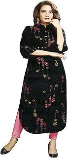 Ladyline Womens Casual Printed Rayon Kurti Tunic Top Kurta
