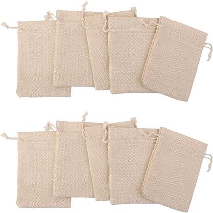 Snner Gift Bags, C-10pcs Linen Jute 1014cm