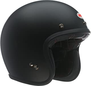 Bell Custom 500 Open-Face Motorcycle Helmet (Solid Matte Black, X-Large)