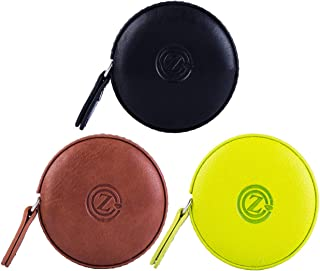 GZ Sewing Tape Measure Leather Retractable Body Measuring Tape 150 cm 60 Inch Tailor Fabric Small Tape Measure with Push Button, Black Brown Green, Round (3 Pack)