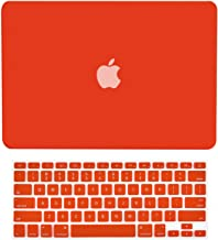 TopCase 2-in-1 Macbook Pro 15-Inch A1398 with Retina Display RED Rubberized Hard Case Cover and Keyboard Cover (LATEST VERSION / No DVD Drive / Release June 2012)+ TopCase Mouse Pad