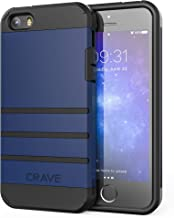iPhone SE Case, iPhone 5s Case, Crave Strong Guard Protection Series Case for iPhone 5 5s SE - Navy