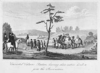 Converted Tartars 1837 NConverted Calmuc Tartars Leaving Their Native Horde To Join The Missionaries Line Engraving And Et...