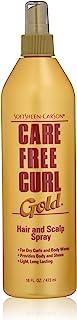 SoftSheen-Carson Care Free Curl Gold Hair and Scalp Spray, 16 fl oz