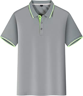 HombresT-Shirts MechaPoloDe La Manga Corta Camisa del Partido (2Piezas)LGris