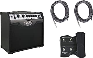 Peavey Vypyr VIP 1 Combo Guitar/Bass Modeling Amplifier + (2) 10' Cables + Sanpera I Foot Controller