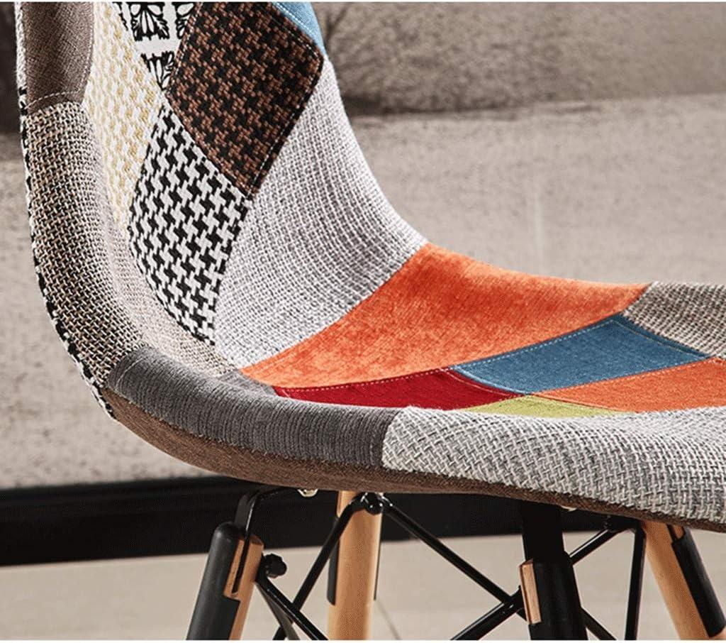 HEJINXL Coussin de salle à manger en patchwork avec pieds en hêtre pour bureau, salon, cuisine, chambre à coucher A