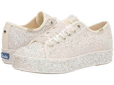 Keds x kate spade new york Triple Kick All Over (Cream Glitter) Women