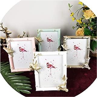 Petite-Bub-Scarlet Creative Resin Gift for Living Room Photo Frame Bamboo Leaf Bird Desktop Decoration Photo Frame,White