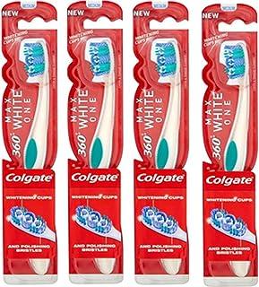 Colgate 360 Max White One Medium - Cepillo de dientes (4 unidades)