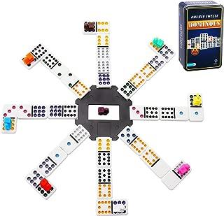 Mexican Dominoes,Doublefan Color Double 12 Dominoes 91 Tiles
