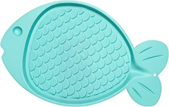 Loving Pets Bella Spill -Proof Fish-Shaped Mat for Cats
