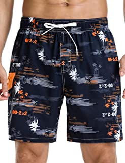 Nonwe Men's Quick Dry Soft Relaxed Fit Drawsting Swim Trunks