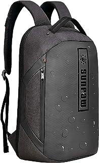 Mochila para portátil de 15,6 pulgadas, resistente al agua, antirrobo, adecuada para la escuela, el trabajo, viajes, negocios, color negro