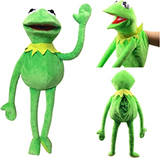 Natseekgo The Frog Puppet,Muppet Show 23.6 inch Kermit The Frog Hand Puppet full body Soft Stuffed Plush Puppets Toys Chr...
