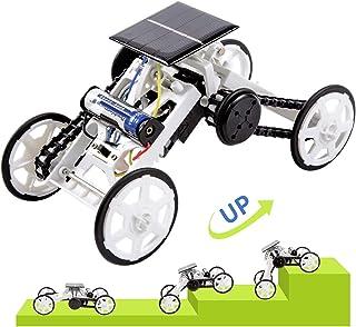 LESES Stem Toys DIY Solar Power 4WD Climbing Vehicle Motor Car Kits for 8-10 Year Old Boys, Educational Building Toys - Sc...