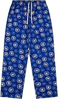 Official Adults Chelsea FC Soccer Lounge Pants (100% Cotton Pyjama Bottoms)