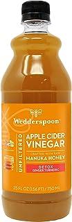 Wedderspoon Apple Cider Vinegar with Manuka Honey, Detox, Ginger Turmeric Lemon, 25 Fl Oz