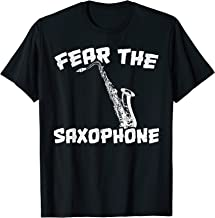 Fear The Saxophone, Funny Marching Band T-shirt